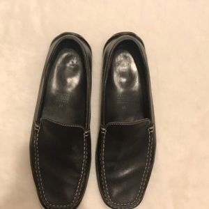 Men's Geox black leather loafers